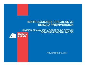 instrucciones circular 33 unidad preinversion division de analisis y ...