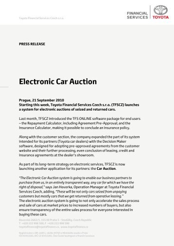 Full Press Release For Download   Toyota Financial Services