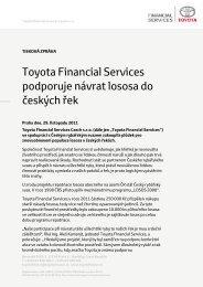 Celá tisková zpráva ke stažení - Toyota Financial Services