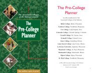 Pre-College Planner - Associated Colleges of the Midwest