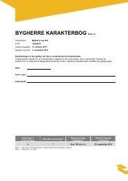 BYGHERRE KARAKTERBOG Side 1/4 - Byggeriets Evaluerings ...