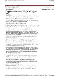 Dog bite victim seeks change in Oregon law - Understand-A-Bull