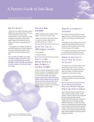 A Parent's Guide to Safe Sleep (pdf) - Healthy Child Care America