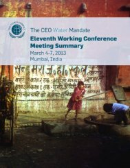 Meeting Summary (pdf) - CEO Water Mandate