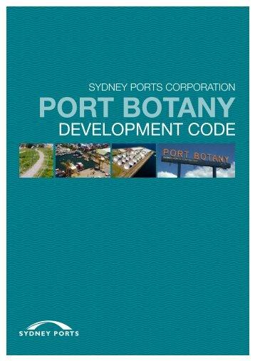 Port Botany Development Code - Sydney Ports