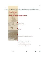 The U.S. Foreign Disaster Response Process - Institute for Foreign ...