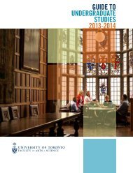 Arts & Science Viewbook - the Faculty of Arts & Science - University ...