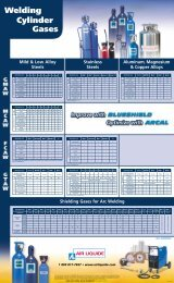 Industrial gas wall chart - which wire/gaz ... - BLUESHIELD