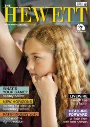 new horizons what's your game? - The Hewett School