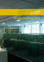 Årsberetning 2011 - Dansk Sprognævn