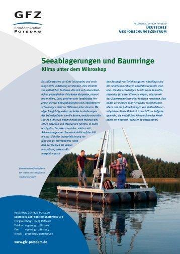 Seeablagerungen und Baumringe - GeoForschungsZentrum Potsdam