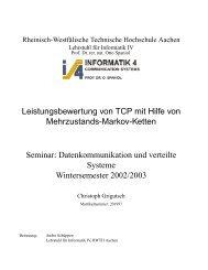 TCP over a multi-state Markovian path - Informatik 4