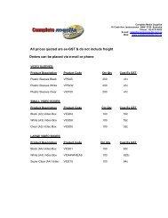 Price List - Complete Media Supplies