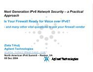 Next Generation IPv6 Network Security – a Practical Approach Is ...