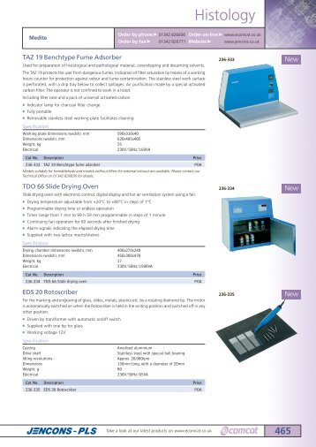 Jencons laboratory catalogue Vacuum ovens drying ovens Binder ...