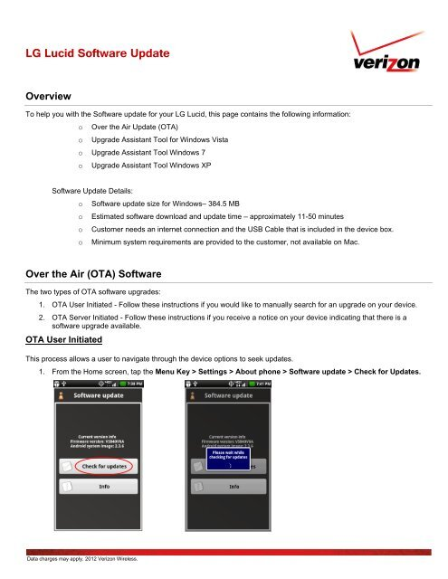 LG Lucid Software Update - Verizon Wireless Support