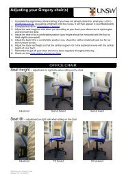 How to adjust the Wallace Wurth office and lab chair - School of ...