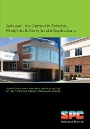 Achieve Low Carbon in Schools, Hospitals & Commercial Applications