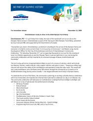 For immediate release November 12, 2009 Charlottetown ready to ...