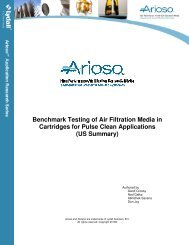 Benchmark Testing of Air Filtration Media in Cartridges for Pulse ...