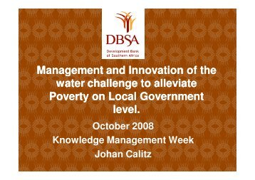 Characteristics of the water challenge to alleviate poverty at ... - iwrm