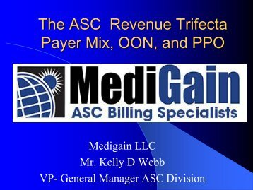 The ASC Revenue Trifecta Payer Mix, OON, and PPO