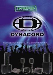 Dynacord-brosjyre - Bergen Av-teknikk AS