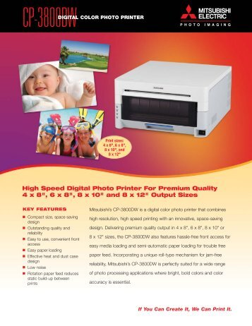 digital color photo printer - Mitsubishi Electric Sales Canada Inc.