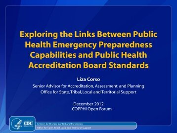 CDC Presentation - National Network of Public Health Institutes ...