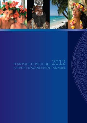 PLAN POUR LE PACIFIQUE 2012 RAPPORT D'AVANCEMENT ANNUEL - Pacific ...