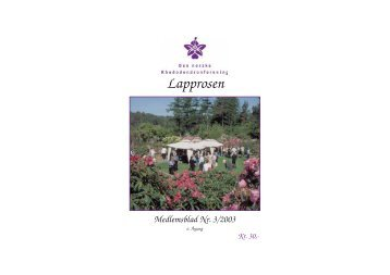 Utgave nr 3 - Den norske Rhododendronforening