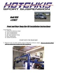Hotchkis 1803A Adjustable Rear Suspension Package for GM A-Body 68-72