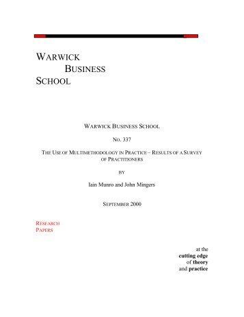 0 10 20 30 40 50 60 70 80 1 2 3 4 5 6 7 8 9 - Warwick Business School