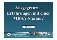 Erfahrungen mit einer MRSA-Station? - Septische Chirurgie