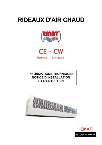 RIDEAUX D'AIR CHAUD CE – CW - EMAT
