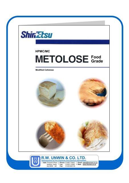 Excipients: Metolose Food Grade - Diskes Jabarprov