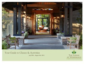Your Guide to Classes & Activities - The Lodge At Woodloch