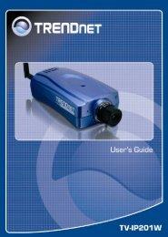 TV-IP201W User's Guide - Kamery IP