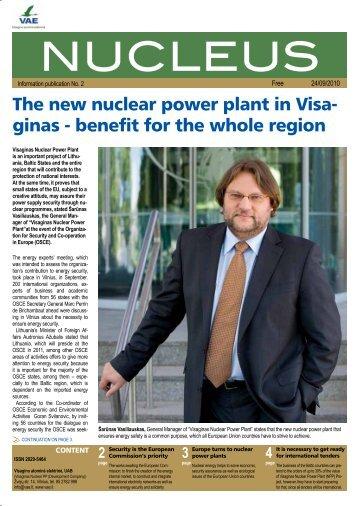 NUCLEUS - Visagino atominės elektrinės projektas