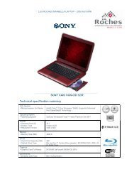 SONY VAIO VGN-CS11Z/R Technical specification ... - Les Roches