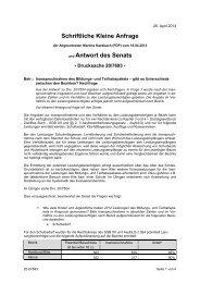Schriftliche Kleine Anfrage und Antwort des Senats - FDP-Fraktion in ...