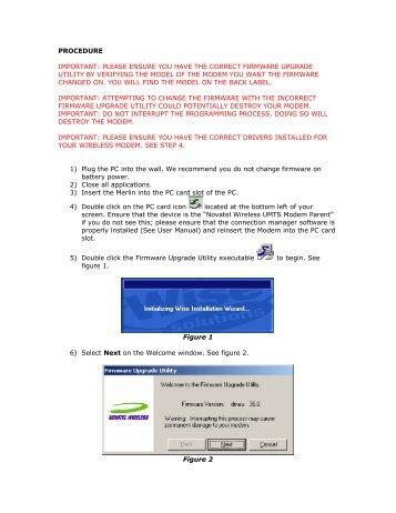 Modem firmware download