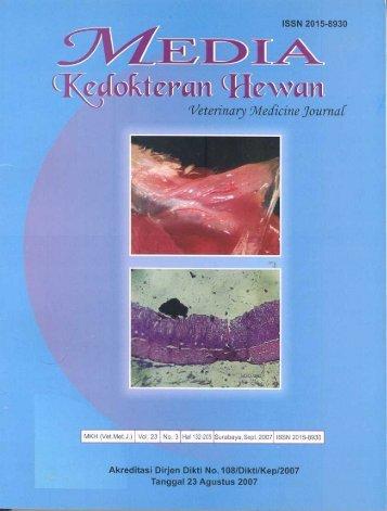 Media Kedokteran Hewan 23(3): 184-191 - aff fkh ipb