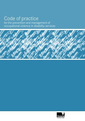 Occupational violence in Disability Services code of practice (PDF