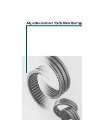 Adjustable-Clearance Needle Roller Bearings