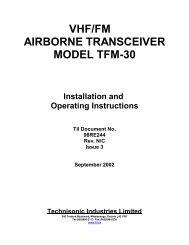TFM-30 - Dallas Avionics, Inc.