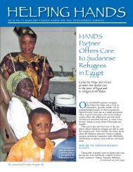 HANDS Partner Offers Care to Sudanese Refugees in Egypt