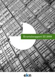 Kvartalsrapport III 2009 - EKN