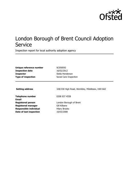 adoption-inspection-appendix-a , item 7  PDF 108 KB - Brent