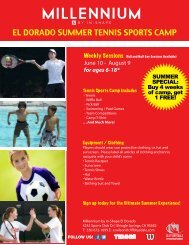 Tennis Camp - In-Shape Health Clubs